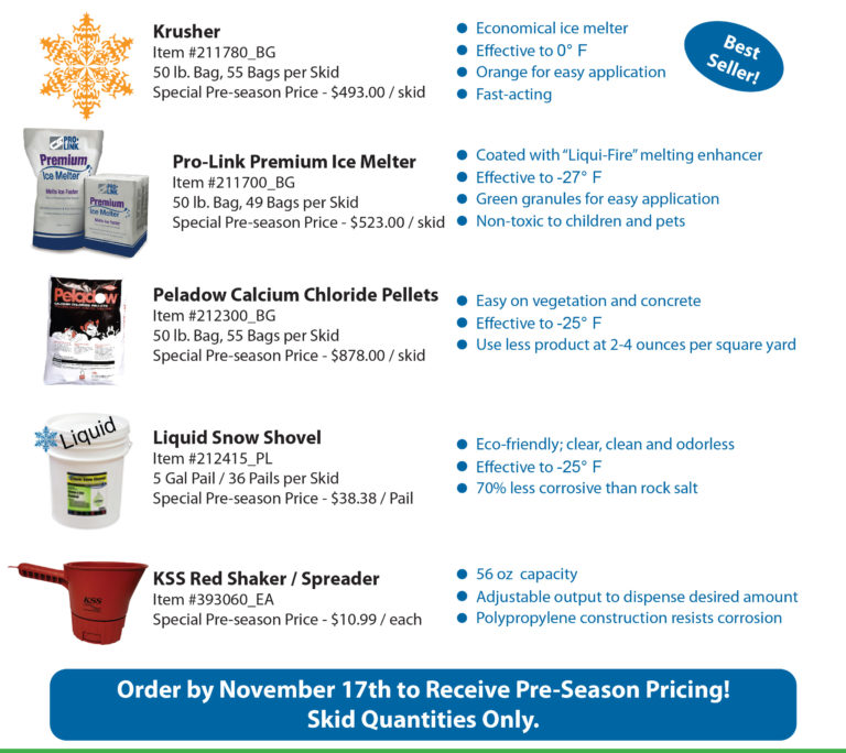 KSS Ice Melter Specials for 2017